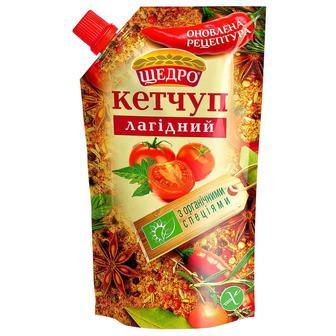 Кетчуп Щедро Лагідний 300г д/п