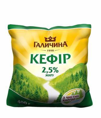 Кефір 2,5% Галичина 400г