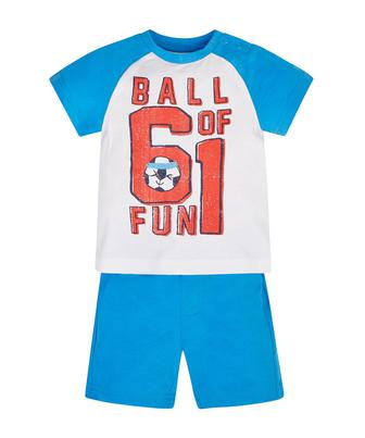 Футболка та шорти з м'ячиками від Mothercare