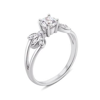 Золотое кольцо с фианитами Swarovski Zirconia. Артикул 12145/б SW