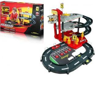 Ігровий набір Гараж Ferrari Bburago 2 машинки 1:43 (18-31204)
