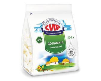 Сир домашній 5% жиру «Білоцерківський» 400 г