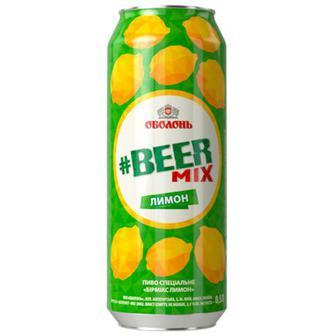 Пиво Оболонь Beermix лимон 0.5л