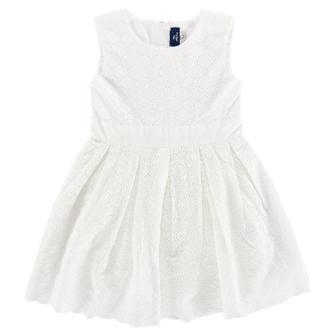 """Белое платье """"Jolie"""" без рукавов, с круглым вырезом"""