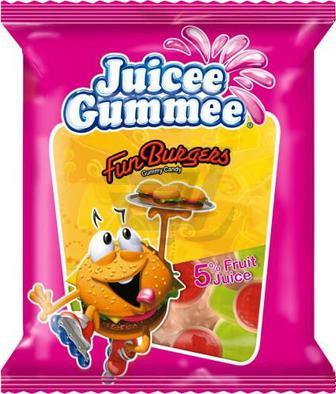Цукерки жувальні Juicee Gummee жабки/Ведмежата та ягоди/Мавпи та банани/Повзуни 80г