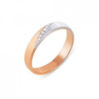 Обручальное кольцо с бриллиантами. Артикул 1026/1,25