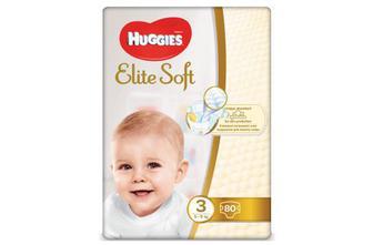 Підгузки Huggies Elite Soft Mega Pack 3 (5–9 кг) 80 шт./уп.
