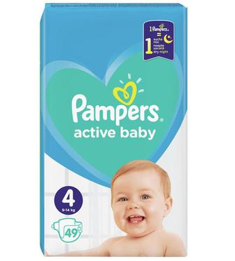 Подгузники PAMPERS Active Baby р4 9-14кг 49шт