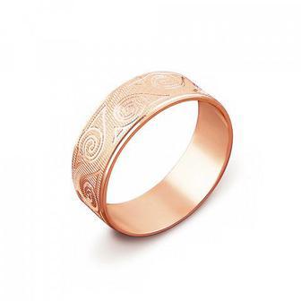 Обручальное кольцо с алмазной гранью. Артикул 1070/13
