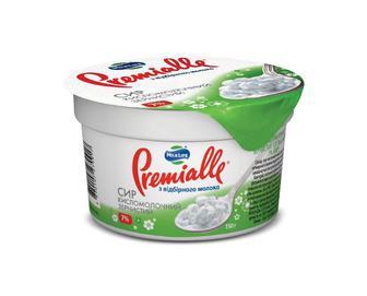 Сир кисломолочний зернистий 7% жиру Premialle, 150 г