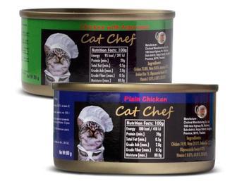 Корм для котів Cat Chef м'ясо курки, м'ясо курки зі спаржею, Таїланд, 80 г