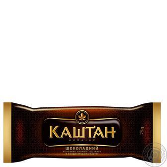 Мороженое Хладик Каштан Шоколадный пломбир шоколадный в кондитерской глазури 75г