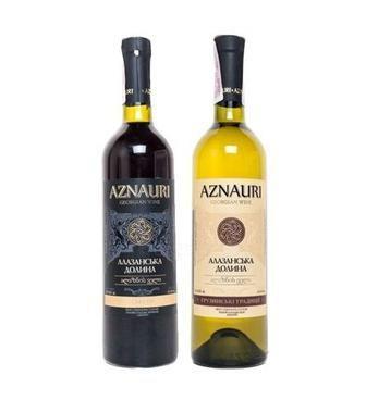 Вино Алазанська долина Азнаури біле, черв., п/сл, 0,75л