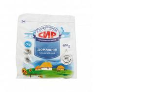 Сир кисломолочний 0% Домашній, Білоцерківський, 400г