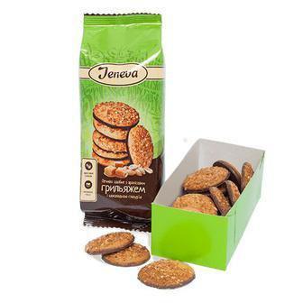 Печево з арахісом, гриляжем і шоколадною глазур'ю Jeneva 200г
