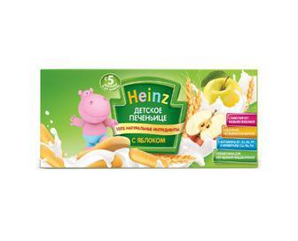 Печиво Heinz, з яблуком, 160 г