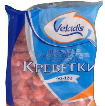 Креветки варено-морожені 90- 120 г Veladis