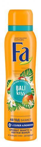 Дезодорант для жінок Fa Ритми островів Ритми островів Bali Kiss Аромат Манго і Квітки Ванілі спрей 150 мл