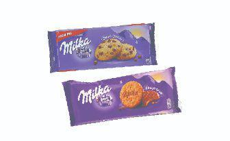 Печиво Глазуроване зі шматочками шоколаду, печиво ЧокоГрейс, Мілка , 168г