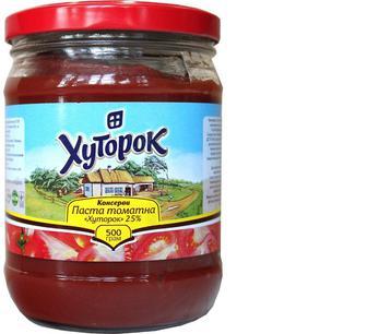 Паста томатна 25%, Хуторок, 500г