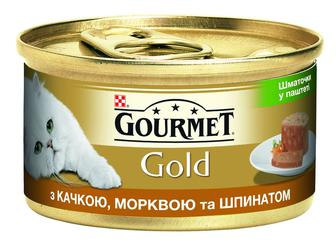 Корм д/кот Gourmet Gold паштет качк-морк-шпин шмат, 85 г