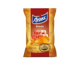 Чіпси «Люкс» зі смаком бекону, 133г