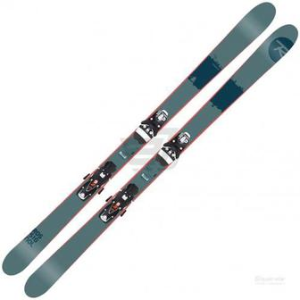 Лижі Rossignol Scratch 181 см SCRATCH+AXL3 DUAL120 B90 BK WH сірий із синіми вставками