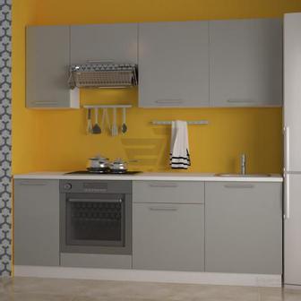 Кухня Дарина сірий глянець МДФ 2.2 м