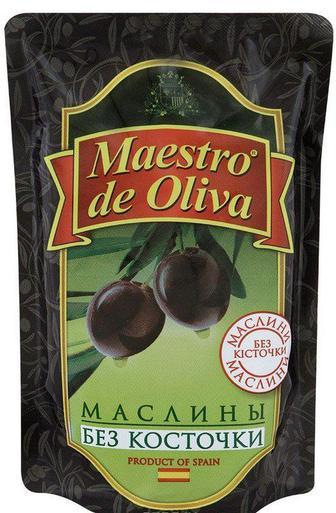 Маслины без косточки Maestro de Oliva 170 гр