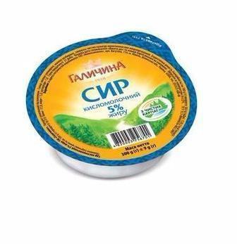 Сир кисломолочний 5% Галичина 300г