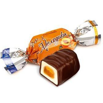 Цукерки ваг Мелодіка кг молочна персик Конті
