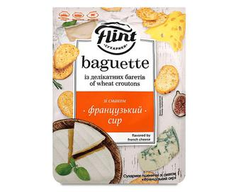 Сухарики Flint Baguette пшеничні зі смаком французького сиру, 110г
