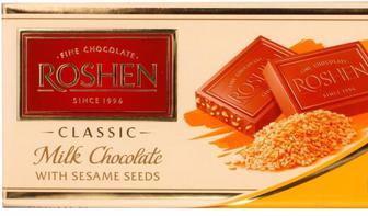 Шоколад екстрамол з сезамом, Рошен,  90 г
