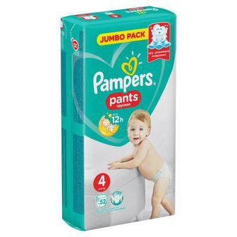 Подгузники-трусики PAMPERS Pants р4 8-14 кг 52шт