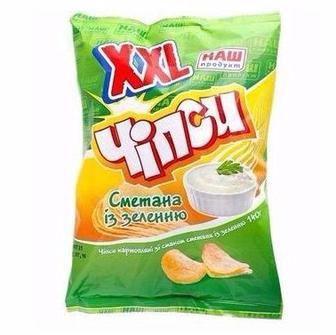 Чіпси картопляні XXL Сметана із зеленню , Сир НАш Продукт 140г