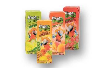 Нектар/Сік Seniorik  виноградно-яблучний/ мульти-фруктовий/персиковий/ яблучно-полуничний Своя Лінія  200 мл