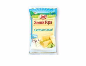 Сыр твердый Сметанковый 50% Звени Гора, 200г