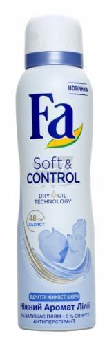 Антиперспірант для жінок Fa Soft & Control Ніжний аромат Лілії спрей 150 мл