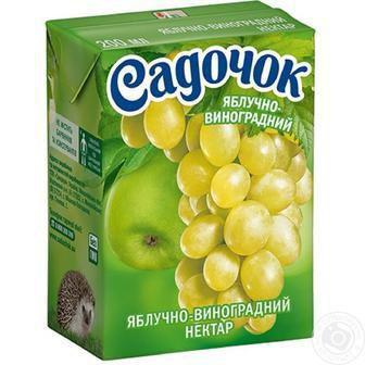 Сік/нектар Садочок 0,2л