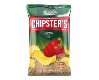 Чипси Flint Chipster's натуральні зі смаком паприки, 70г