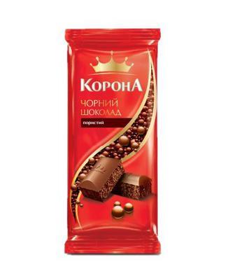 Шоколад Корона пористий чорн.90г