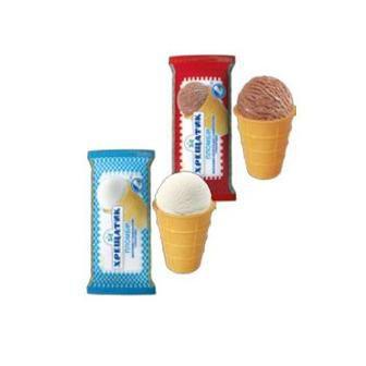 Морозиво пломбір шоколадний у вафельному стаканчику Хрещатик, 70 г