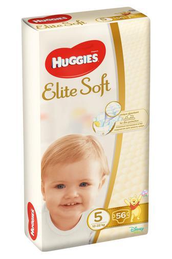 Подгузники Huggies Elite Soft р5 12-22 кг 56 шт