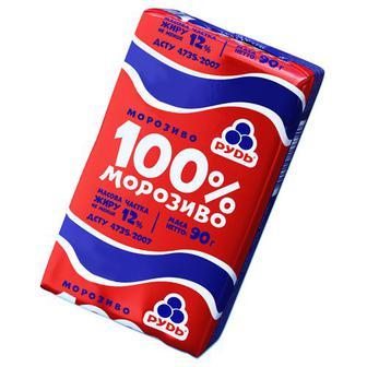 Скидка 38% ▷ Морозиво 100% брикет, Рудь, 90г