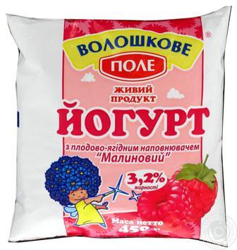 Йогурт Персик/полуниця 3,2% Волошкове Поле 450г