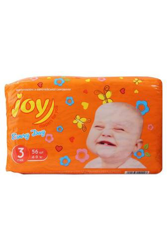 Подгузники Joy Every Day р3 4-9 кг 56 шт