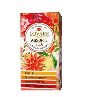 Чай чорний/зелений, асорті  Lovare 24 ф/п х 2 г