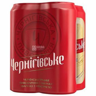 Чернігівське Пиво світле, 0.5л 4шт