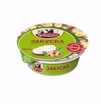 Закуска с сыром Жареные грибочки 55% Тульчинка, 90г