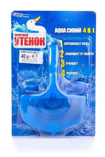 Чистящее средство для туалета Туалетный Утенок AQUA синий 4в1, 40г